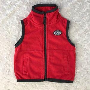 Carter's Fleece Vest Red 3M Property of Mommy